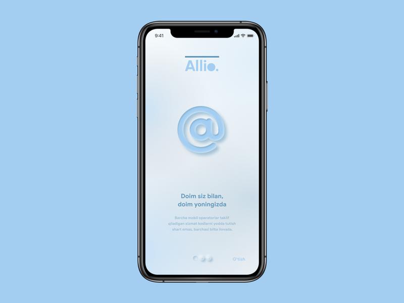 Allio 01 branding ui ux neomorphic logo design app