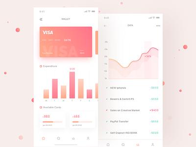 My wallet_02 rad card app data info wallet layout ux ui