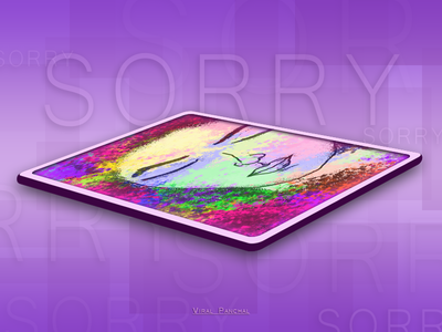 Gift artist photoshop illustration vector apology sorry gift art dribbble