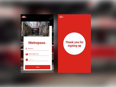 #001 Daily Ui Sign up - TTC Metropass app concept daily ui sign up daily ui ttc toronto daily-ui