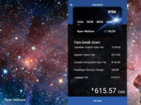#002 Daily Ui Credit Card - SpaceX Flight to Mars Concept