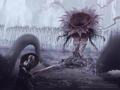 Dark Souls Boss Concept Art