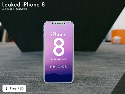 iPhone 10 / X Mockup | Free PSD | 3 mockup (Leaked) ui experience user simplicity creative flat design mockup clean leaked 8 iphone