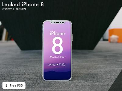 iPhone 10 / X Mockup | Free PSD | 3 mockup (Leaked)