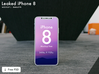 iPhone 10 / X Mockup   Free PSD   3 mockup (Leaked)