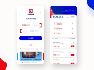 HDFC Bank App Retail (Redesign iOS 2020)