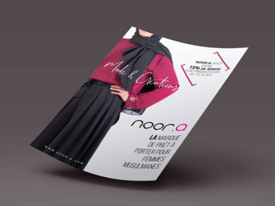 Flyer a5 for muslim's clothes