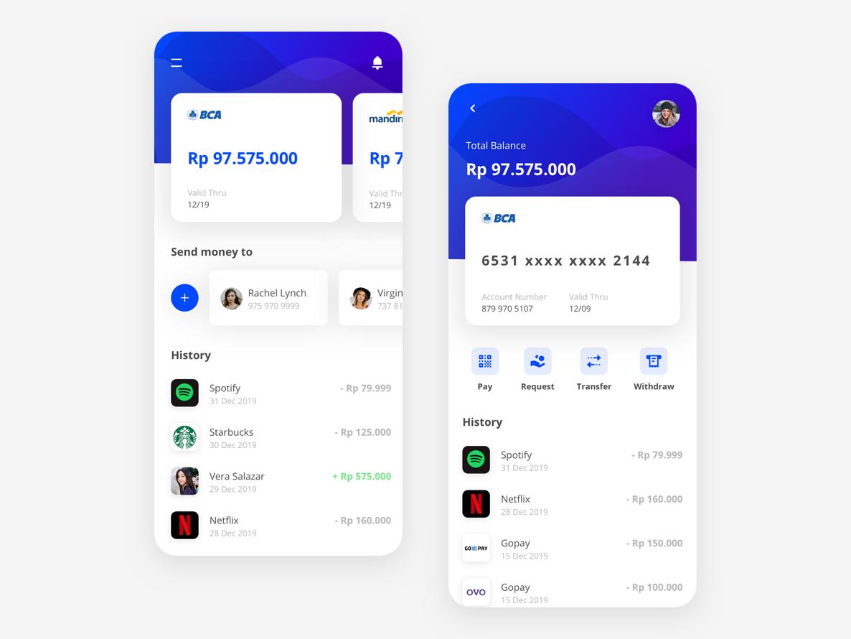 Banking & Finance App V01 fintech finance app ux ui