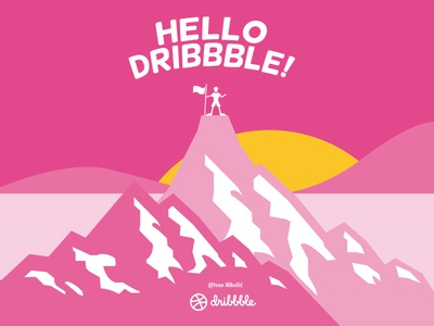 Hello Dribbble! dribbble finally players hello design graphic shot first debut