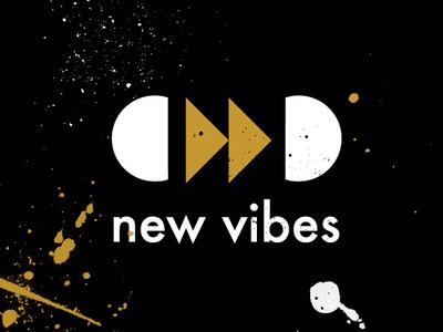 New Vibes futura graphic music identity inspire branding brand design logo
