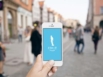 """Il Lato B di Roma """"Phone"""" statue social rome network logo inspire identity graphic design branding brand blu"""