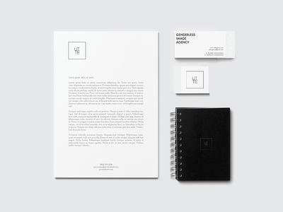 "Utte Agency ""Stationery"" utte identity genderless fashion inspire minimal logo graphic design agency"