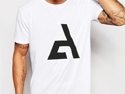 "Personal Logo ""T-Shirt"" shirt white dressed monogram identity minimal brand graphic design logo fashion t-shirt"