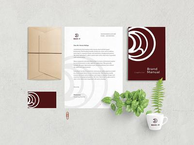 "Wave It ""Stationery"" stationery wave shot rounded logo identity hairstyle gel design construction branding brand"