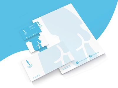 """Il Lato B di Roma """"Stationery"""" statue social rome network logo inspire identity graphic design branding brand blu"""