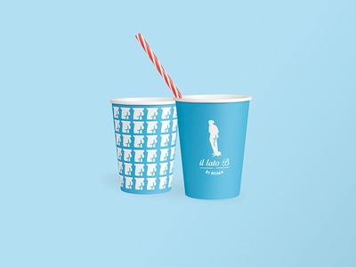 """Il Lato B di Roma """"Cup"""" statue social rome network logo inspire identity graphic design branding brand blu"""