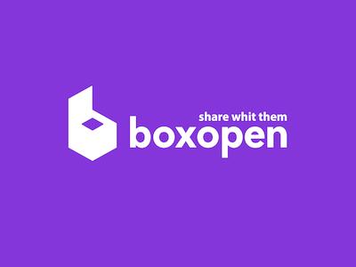 Boxopen purple vector box logos logo identity graphic gradient cloud design branding brand
