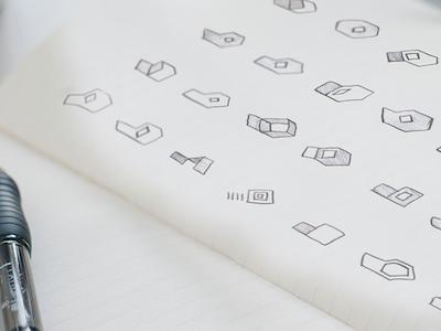 "Boxopen ""Sketch"" sketch purple logos draw identity graphic gradient design cloud branding brand box"