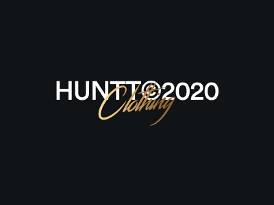 Huntt Signature clothing company clothes clothing design clothing clothing brand streetwear icon vector typography font logo identity brand design branding
