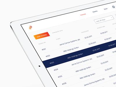 Profits App finance interface ui app