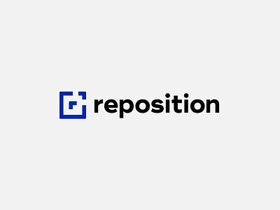 Reposition Logo minimal sign agency marketing consulting branding brand geometric simple reposition logo