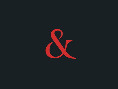KGK & Company Ampersand navy red dark business consulting simple shape sign ampersand financial finance logo