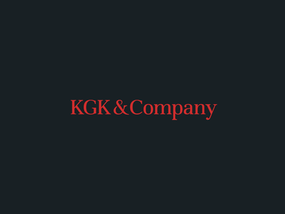 KGK & Company Logo simple sign shape red navy logo financial finance dark consulting business ampersand