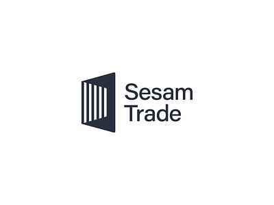 Sesam Trade Logo consulting finance sign mark identity brand branding corporate professional mono diagonal stripes light minimal sanserif trade sesame simple geometric logo