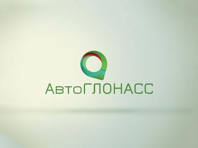 Auto glonass logo design concept