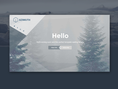 Azimuth theme minimal landing ux ui design site web