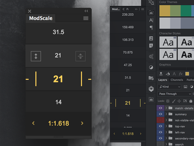 Scale 1.0 golden ratio typography helper typography ratio golden math measurement adobe panel extension cc design ux ui