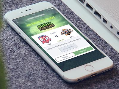 Tipzilla app bonus token spotsbook sports betting flat ios app design ux ui