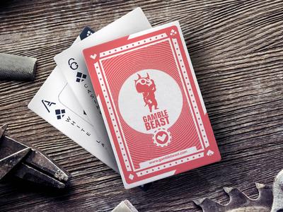 Gamble Beast playing cards set