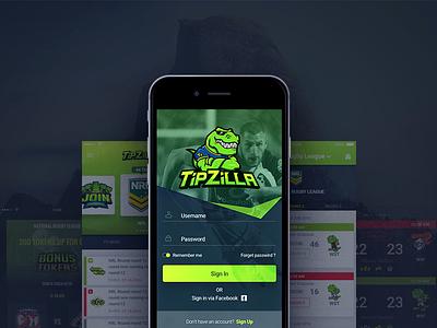 Small app for Australian friends of mine book sportsbook betting sports design ui