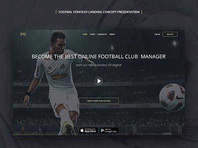 [FS] landing soccer football sports ux design ui