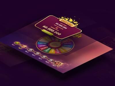 Wheel of luck up pop wheel casino design ux game ui