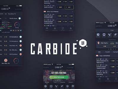 Carbide UI design betting gaming casino book sports sportsbook ux ui