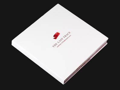 The Last Trace - Book Editorial Design print design visual book branding book book arts creative clean design clean simplistic handmade book handmade printmaking minimalism typography book design book print dark design graphics branding