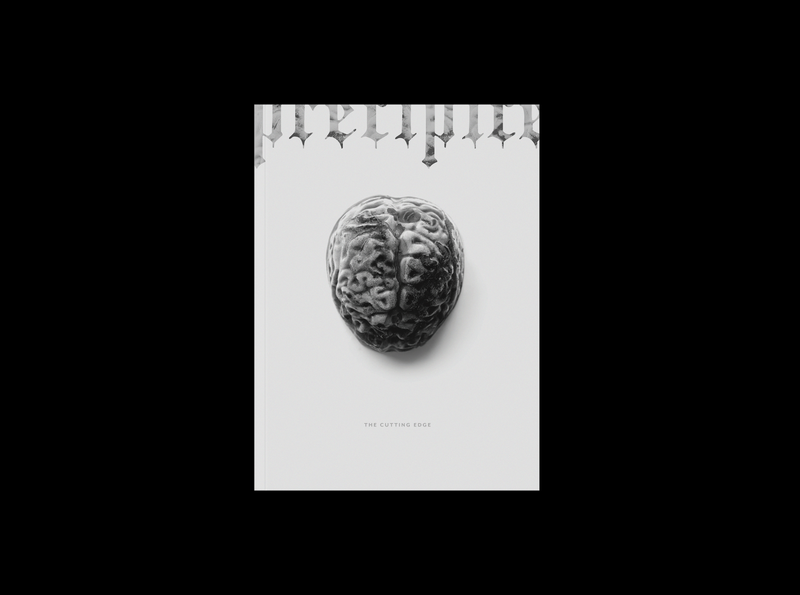 Precipice Magazine Cover print ad editorial editorial design gothic typography gothic dark artist photography handmade magazine design magazine cover magazine print design printmaking print graphics digital dark branding typography