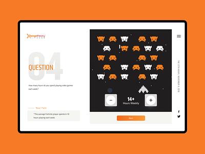 "Orangetheory 25th Hour ""Gaming"" questionaire forms web design motion webdesign website web"