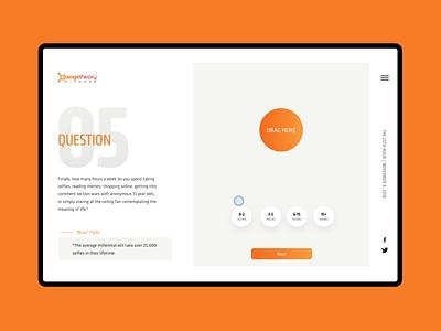 "Orangetheory 25th Hour ""Online Hours"" form design web design web motion webdesign web questionaire motion forms"