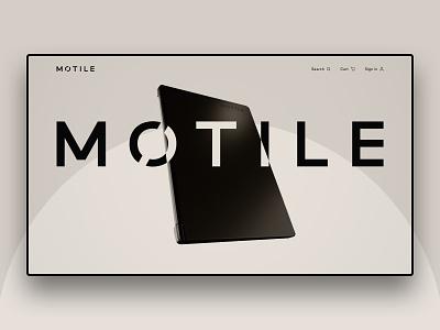 Motile Concepting Hero webdesign design web design web cinema 4d coronarender 3d c4d