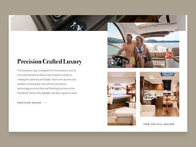 Sundancer 350 lighting product design boat design web sketch web design