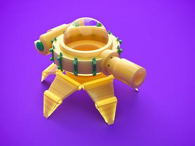 Toys for fun yellow c4d coronarender cinema 4d render 3d tank toy