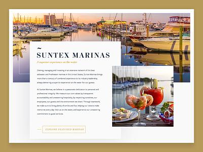 Suntex Marina ux  ui web design marina hero web design suntex