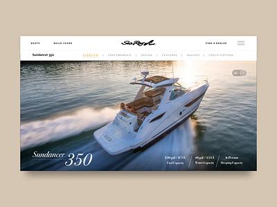 Sundancer 350 product design design web ui interaction setapart1 web design webdesign boats