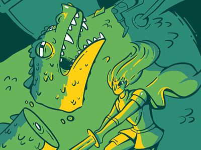 I Am No Man green blue character yellow design character design cartoon 2d illustration