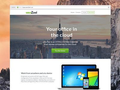 weeZeel Website website landing site design weezeel green clean minimal flat modern