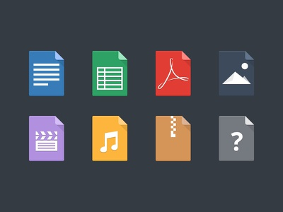 File Types icons icon type file document excel adobe zip folder file types file icons