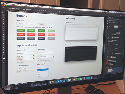 UI Kit (WIP) simple ux clean input search buttons elements preview app design kit ui